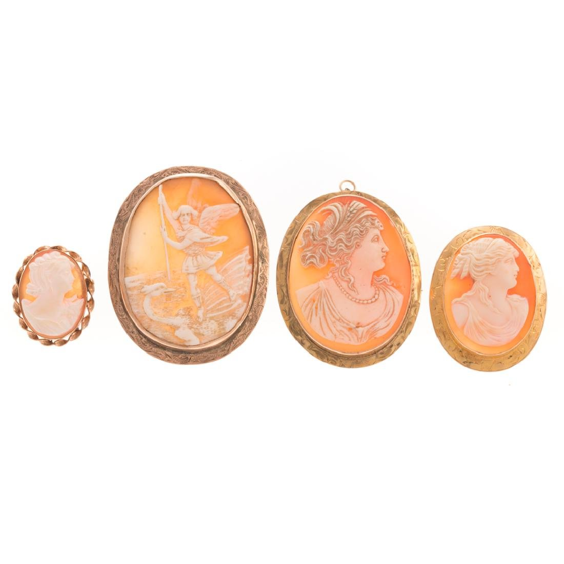A Selection of Lady's Cameo Brooches