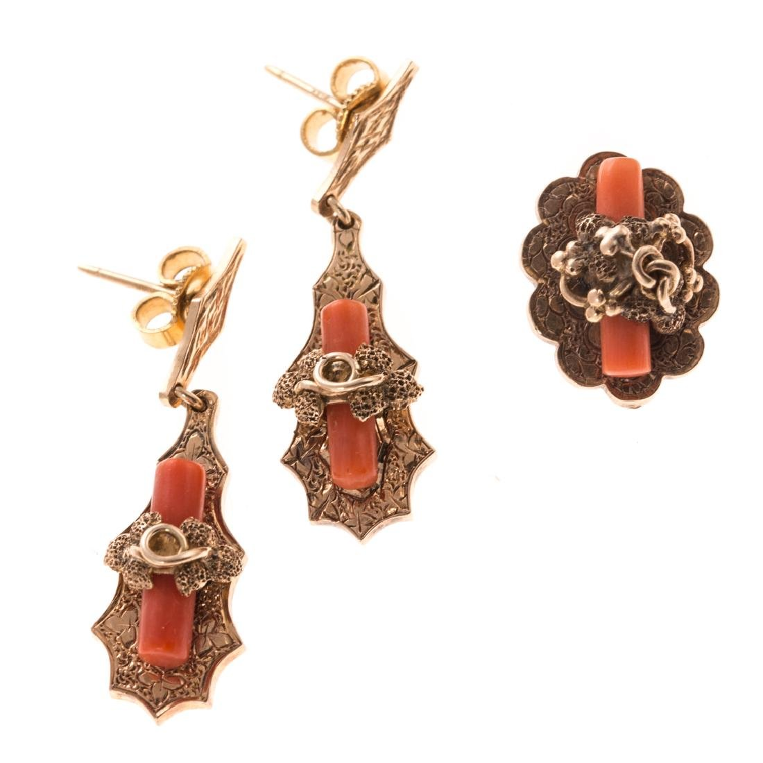 A Collection of Lady's Victorian Coral Jewelry - 5