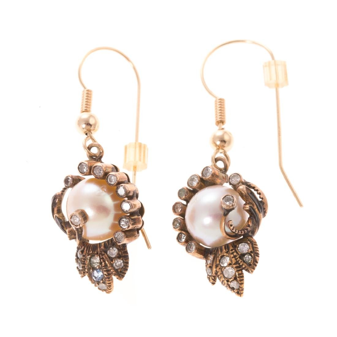 Two Pair of Victorian Earrings in 14K Gold - 2