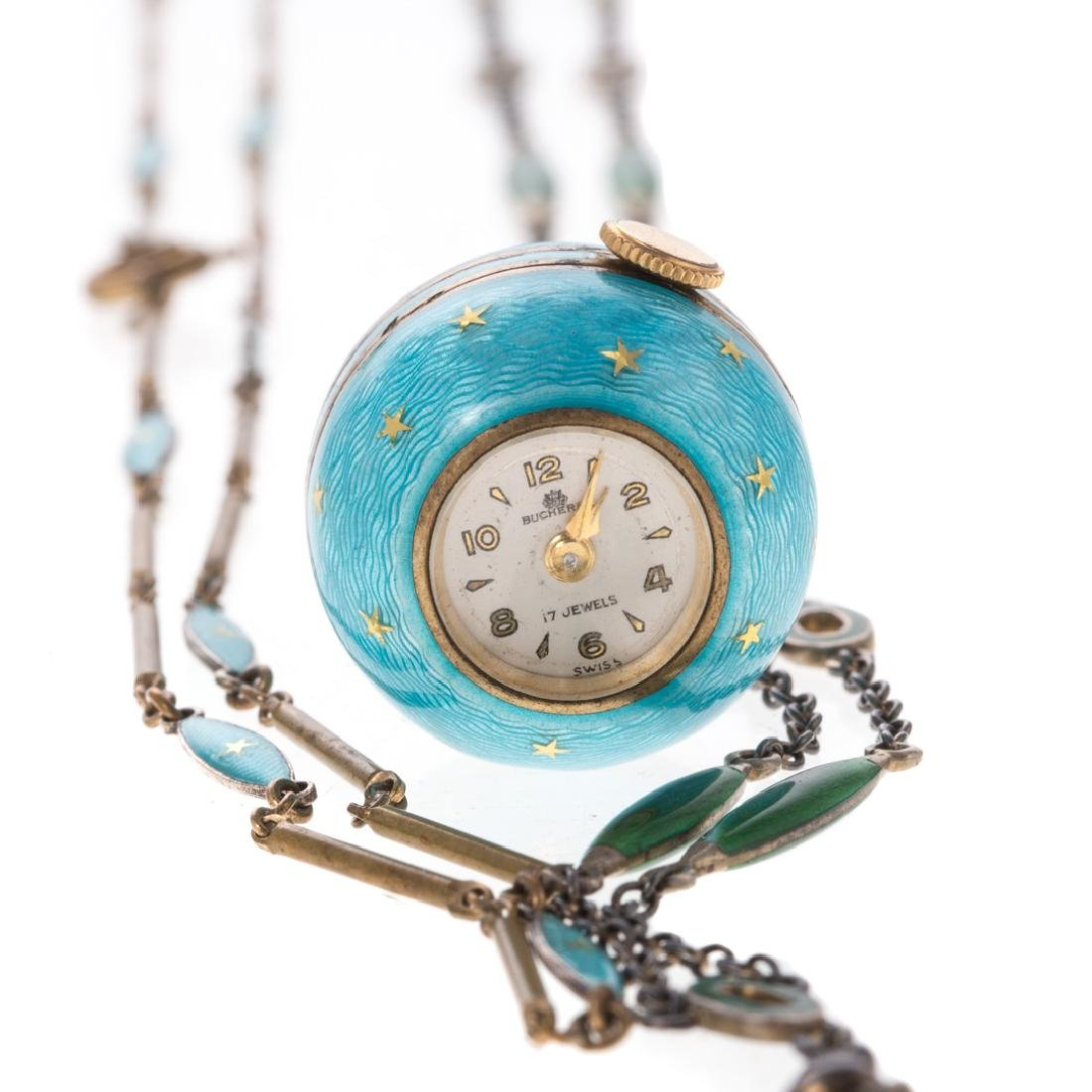 A Lady's Bucherer Ball Watch with Matching Chains - 5