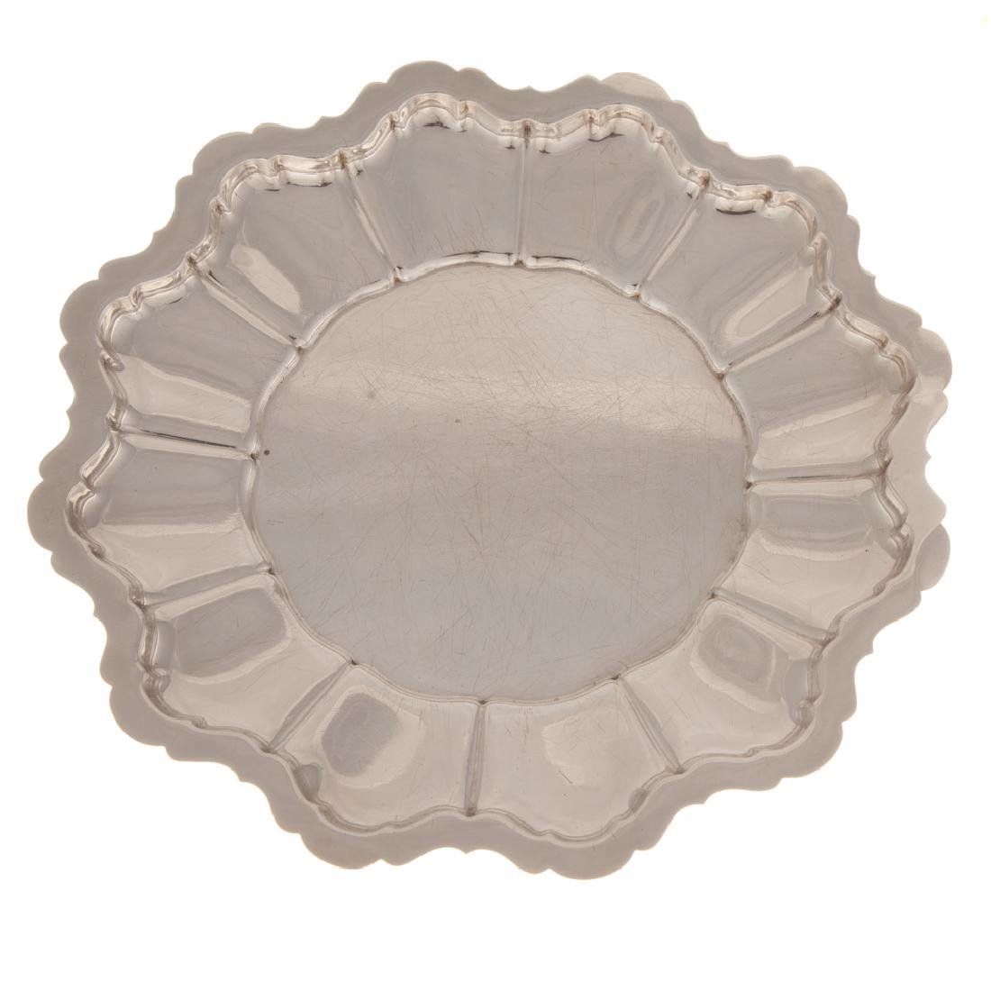 """R. Wallace """"Monteith"""" sterling round platter"""