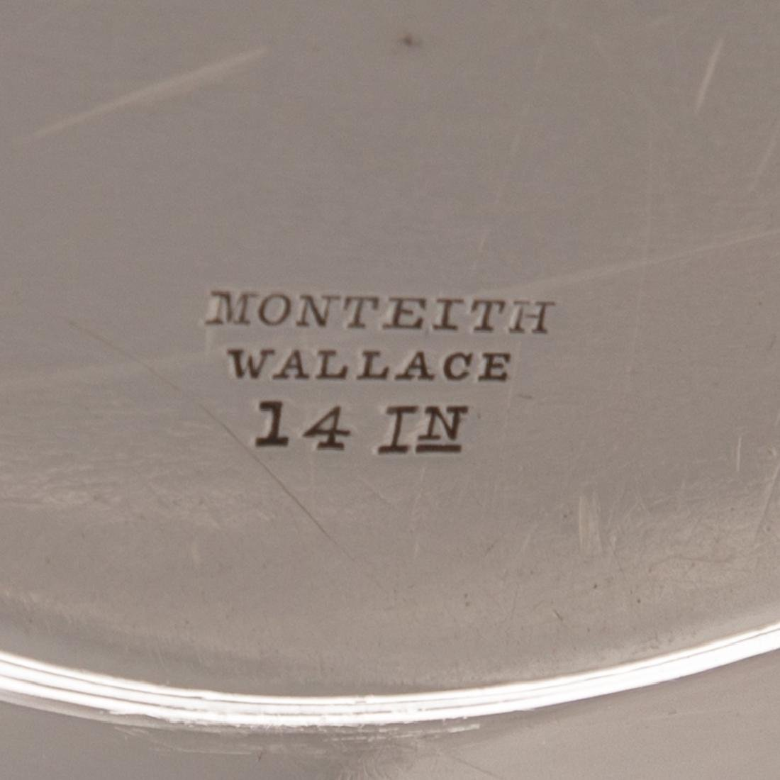 """R. Wallace """"Monteith"""" sterling round platter - 4"""