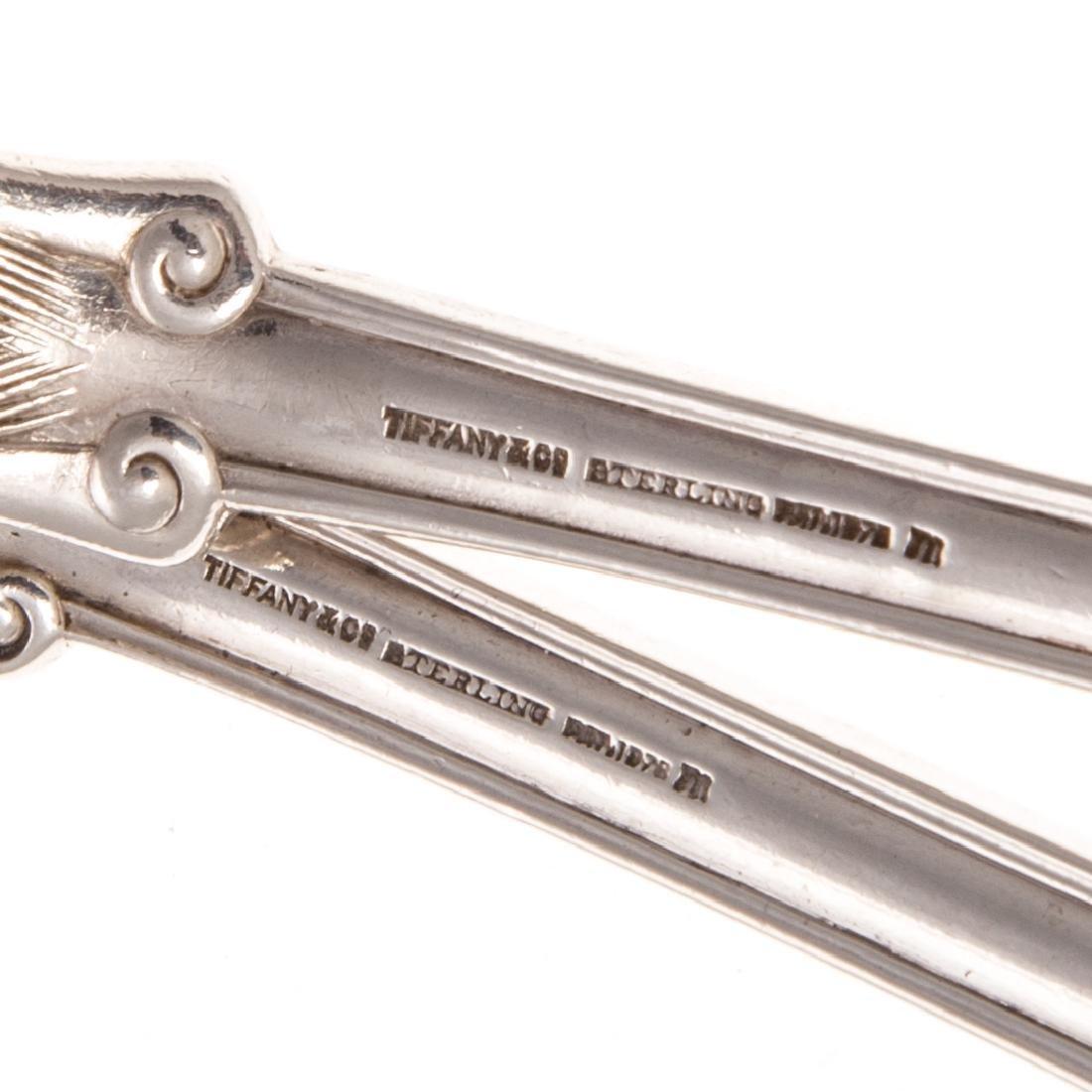 "Tiffany ""Olympian"" sterling serving fork & spoon - 3"