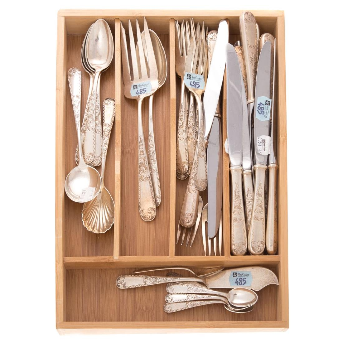 "Kirk ""Mayflower"" sterling 38-pc flatware - 4"