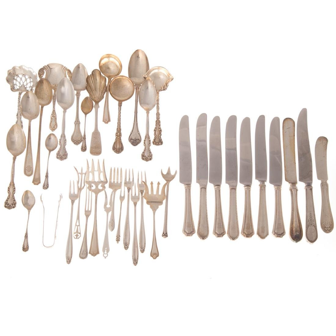 Collection of sterling silver flatware