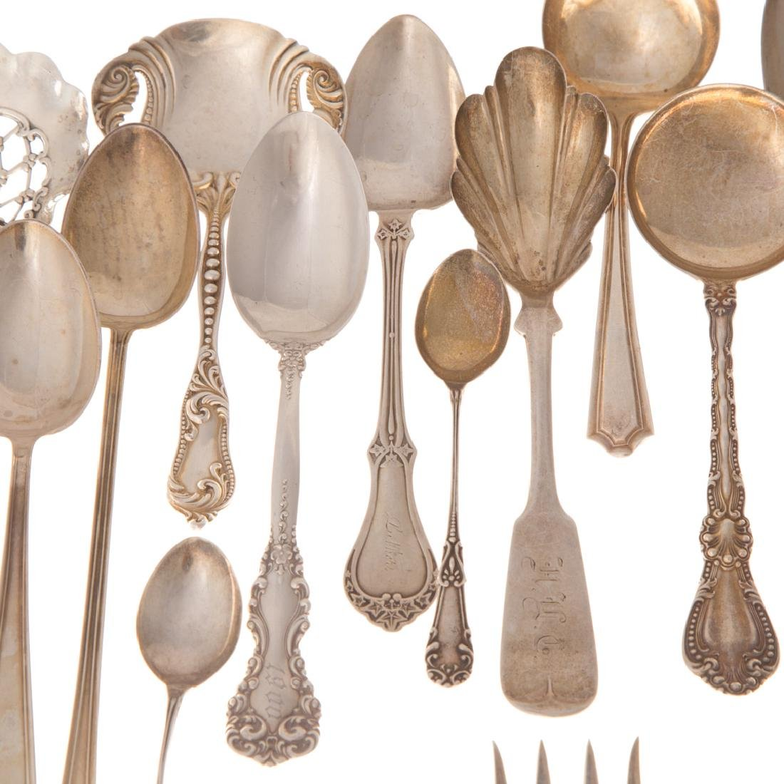 Collection of sterling silver flatware - 4