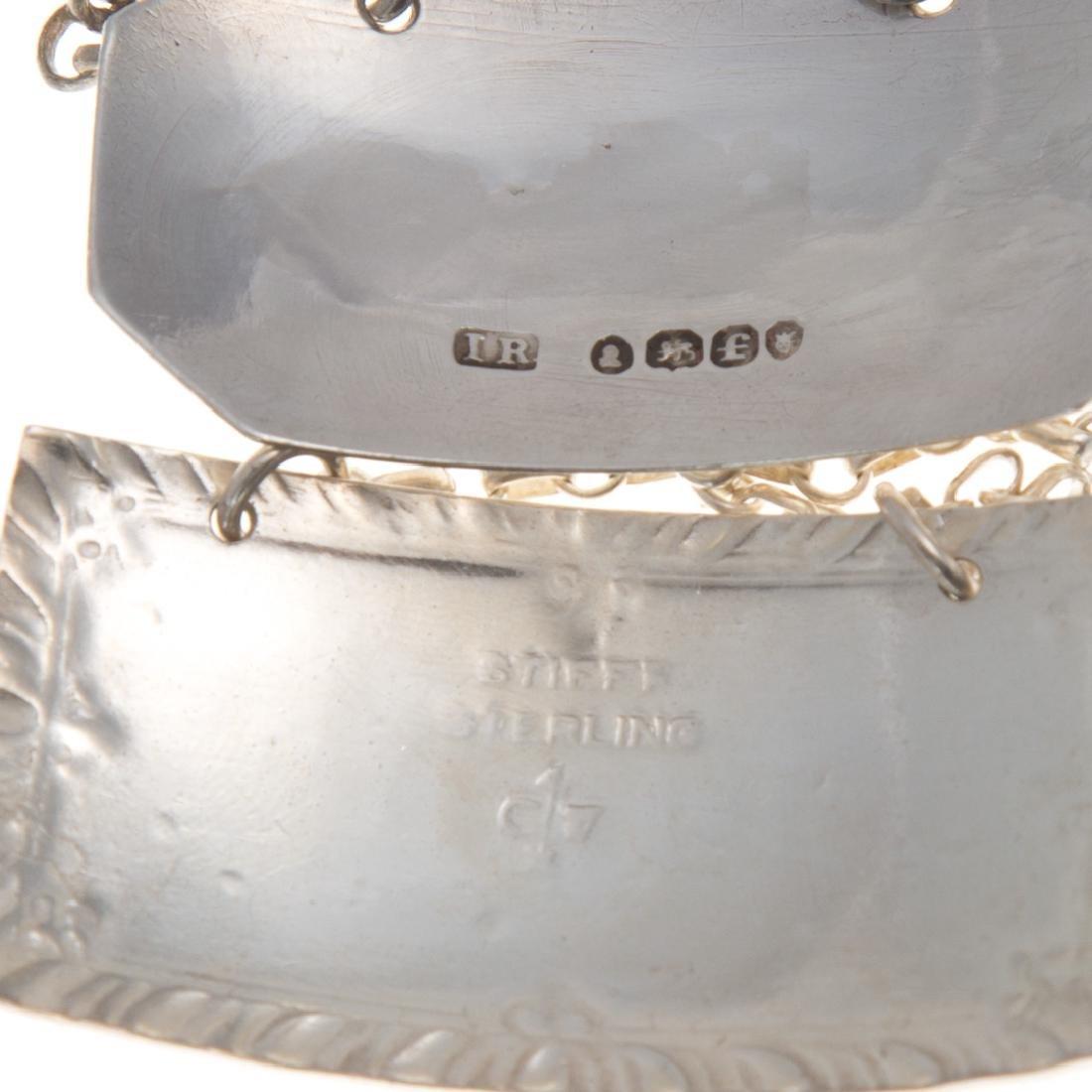 6 sterling silver liquor bottle hanging labels - 3