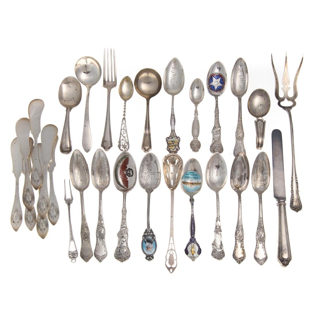 Collection American sterling silver flatware