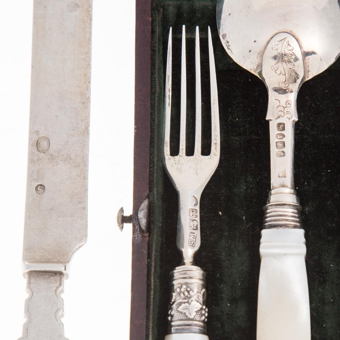 11 pieces English and Continental silver flatware - 3