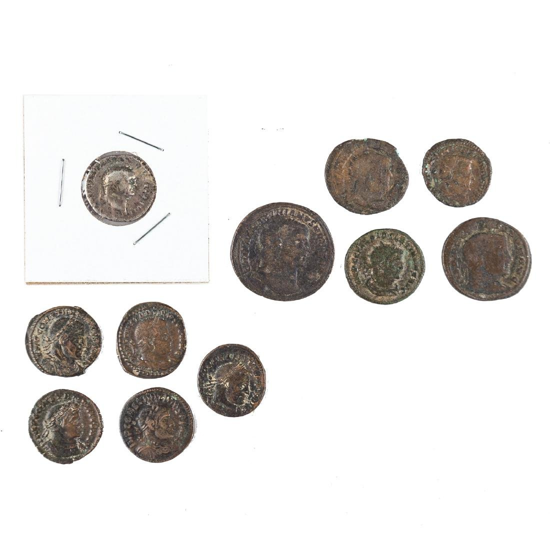 [Ancient] A Group of Late Roman Bronze Coins