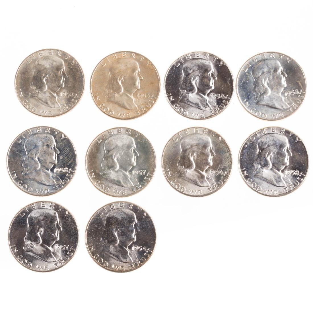[US] Ten BU Franklin Halves