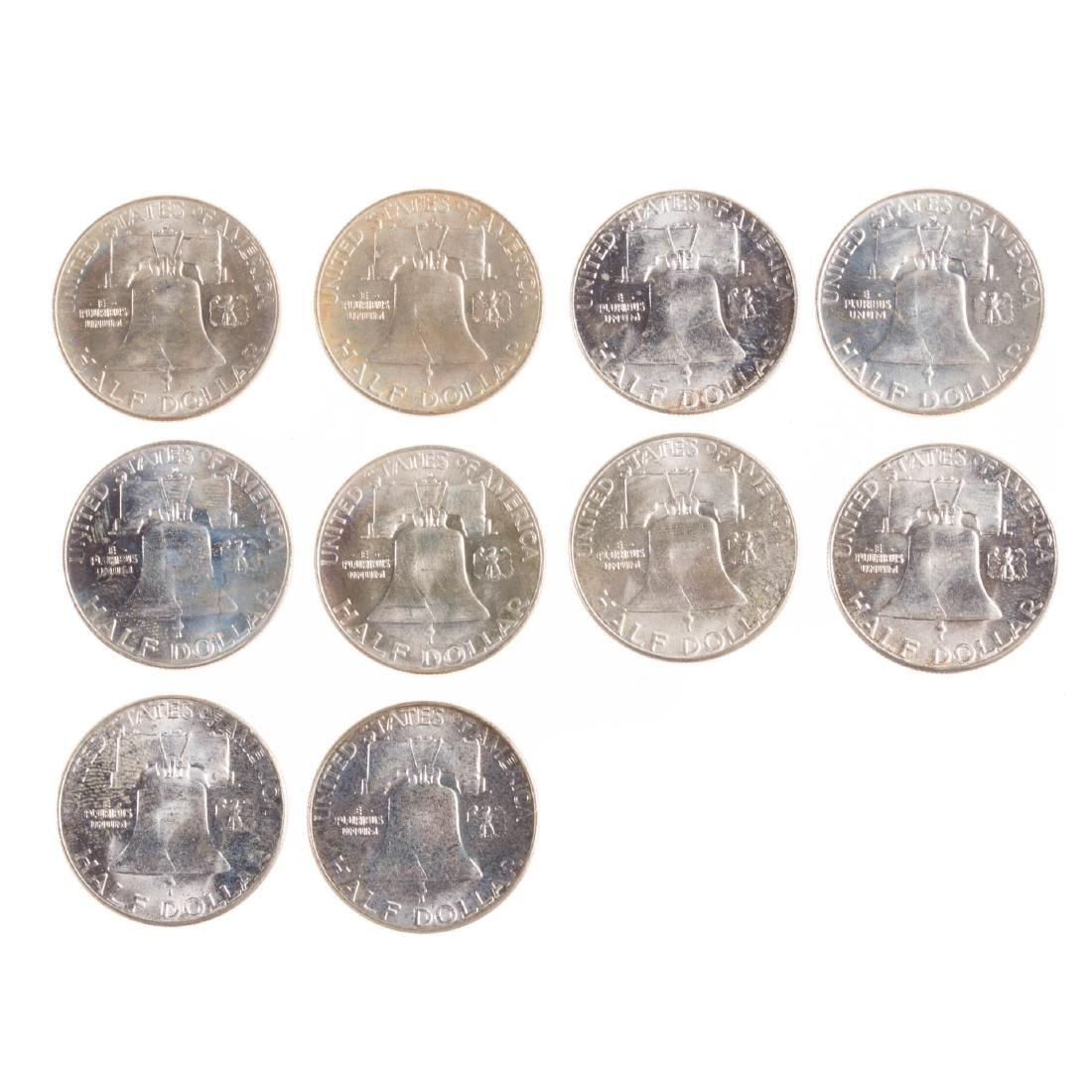 [US] Ten BU Franklin Halves - 2