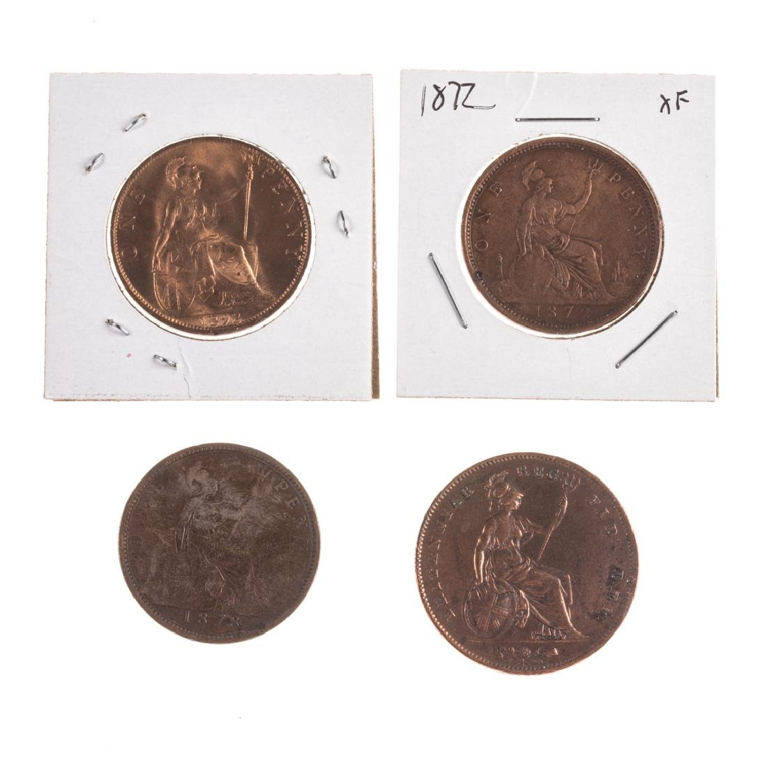 [World] Four Early Large English Pennies