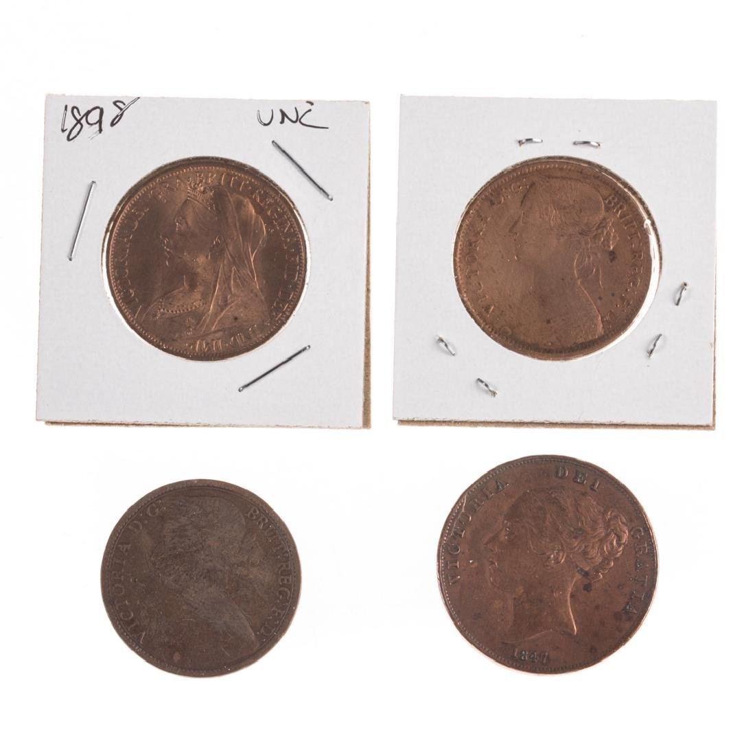 [World] Four Early Large English Pennies - 2