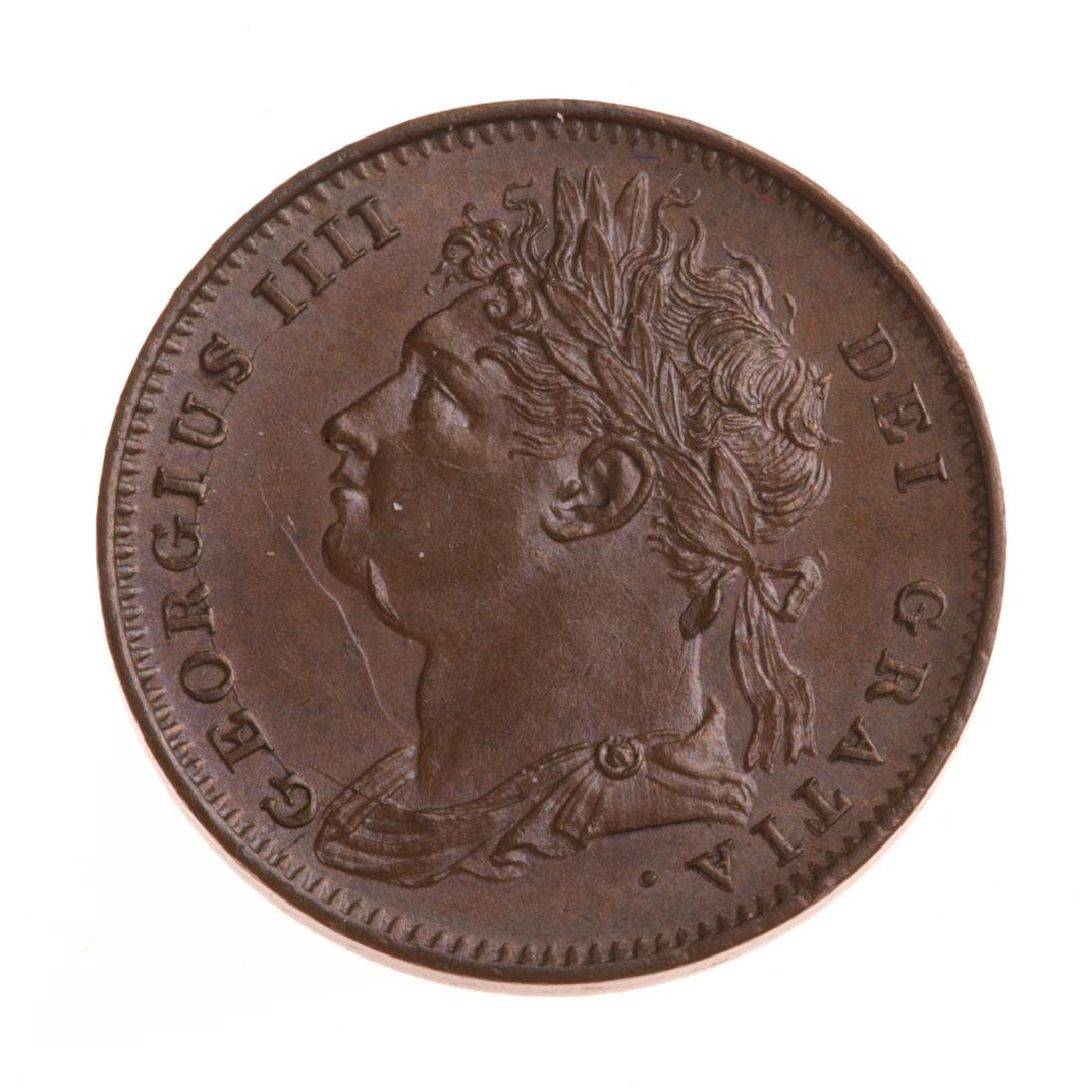 [World] 1825 George IV Farthing - Unc