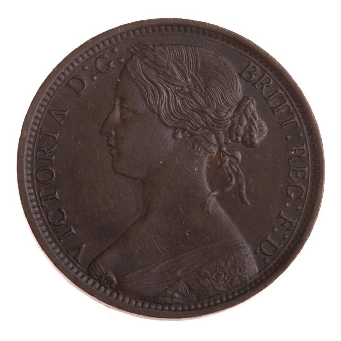 [World] 1862 English Large Penny AU