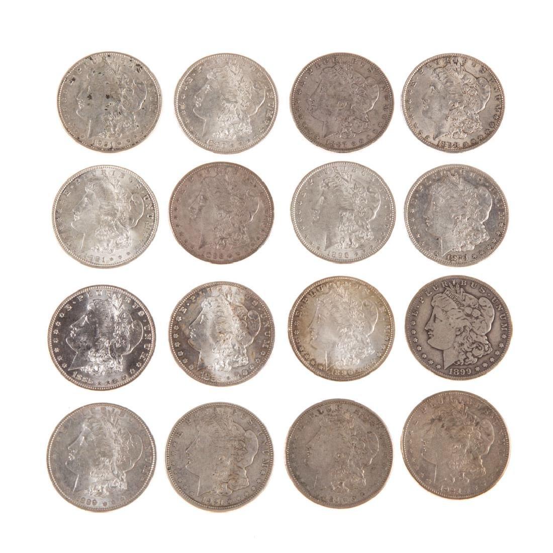 [US] Sixteen Morgan Silver Dollars