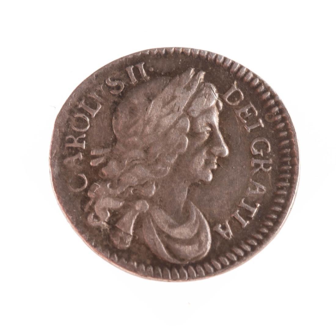 [World] 1684 Charles II Silver Maundy 2 Pence XF