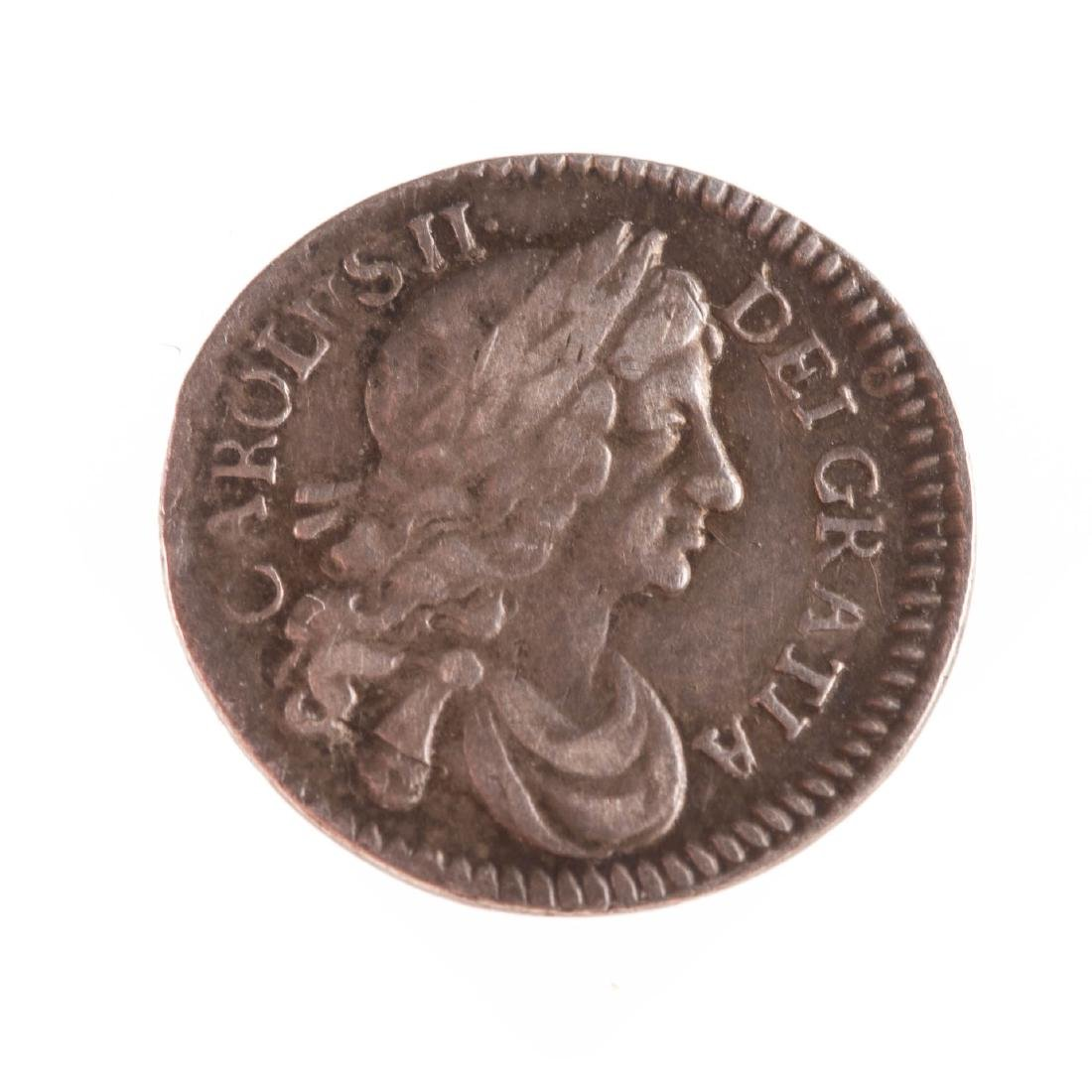 [World] 1684 Charles II Silver Maundy 2 Pence XF
