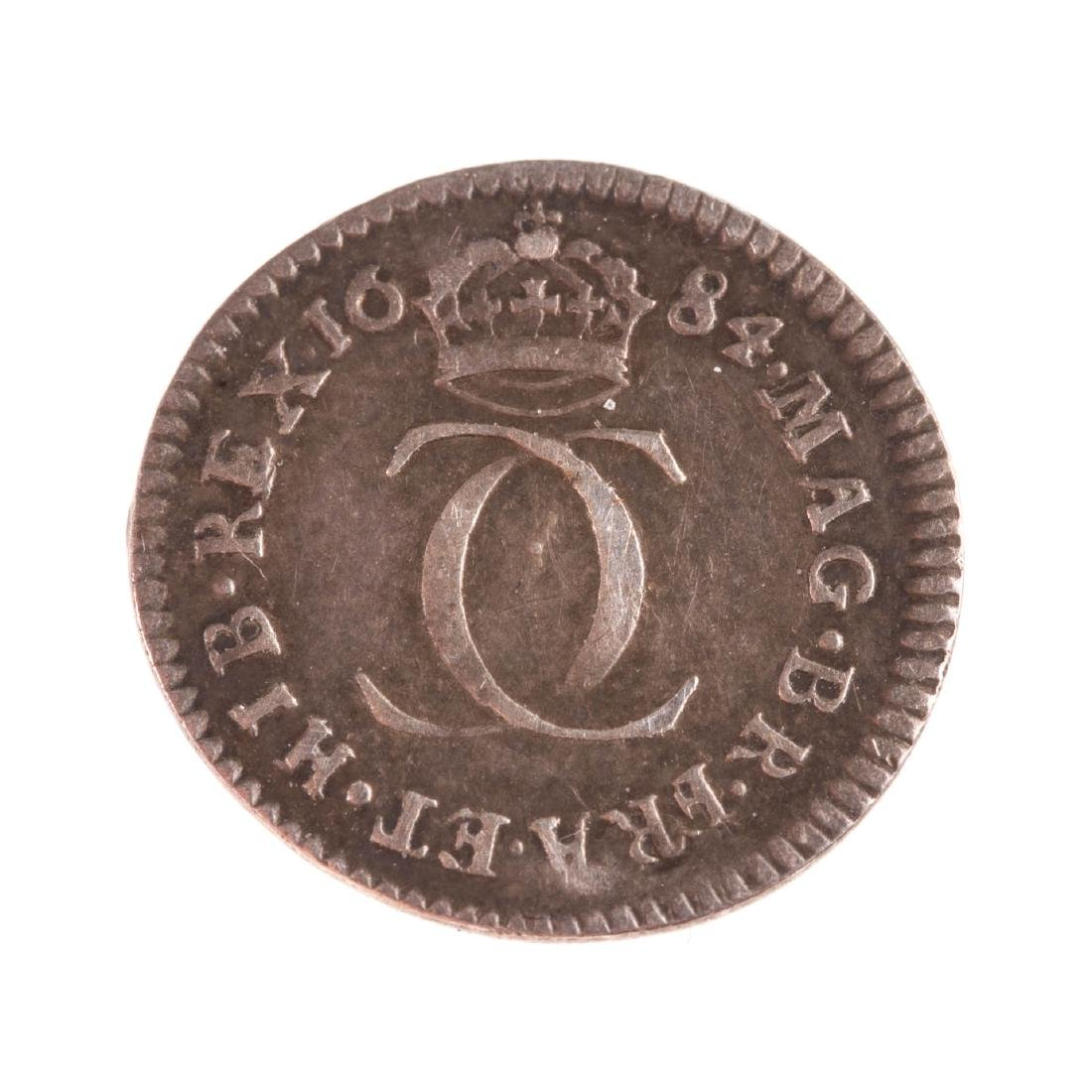 [World] 1684 Charles II Silver Maundy 2 Pence XF - 2