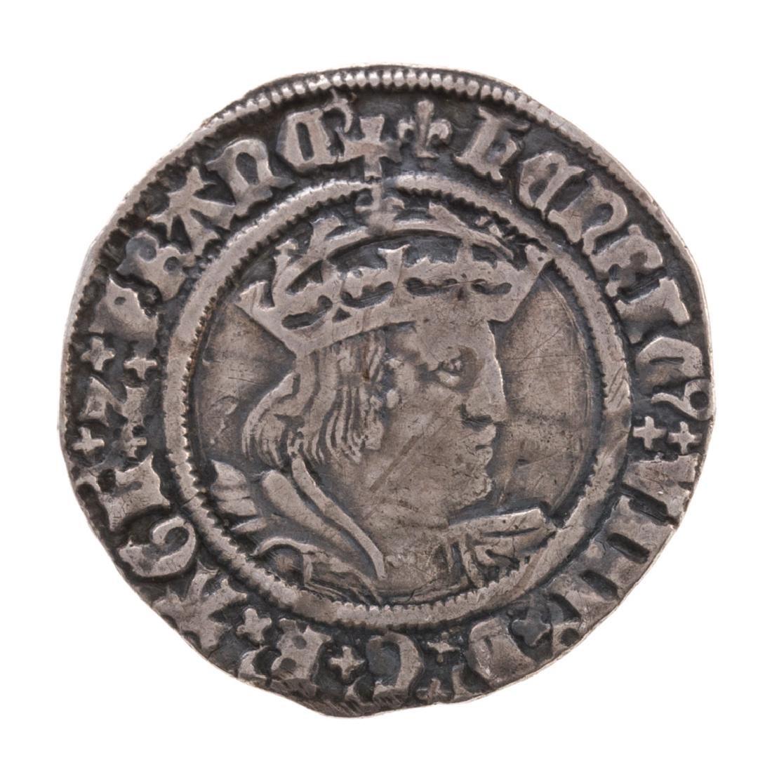[World] Henry VIII Silver Groat, 1529-1532