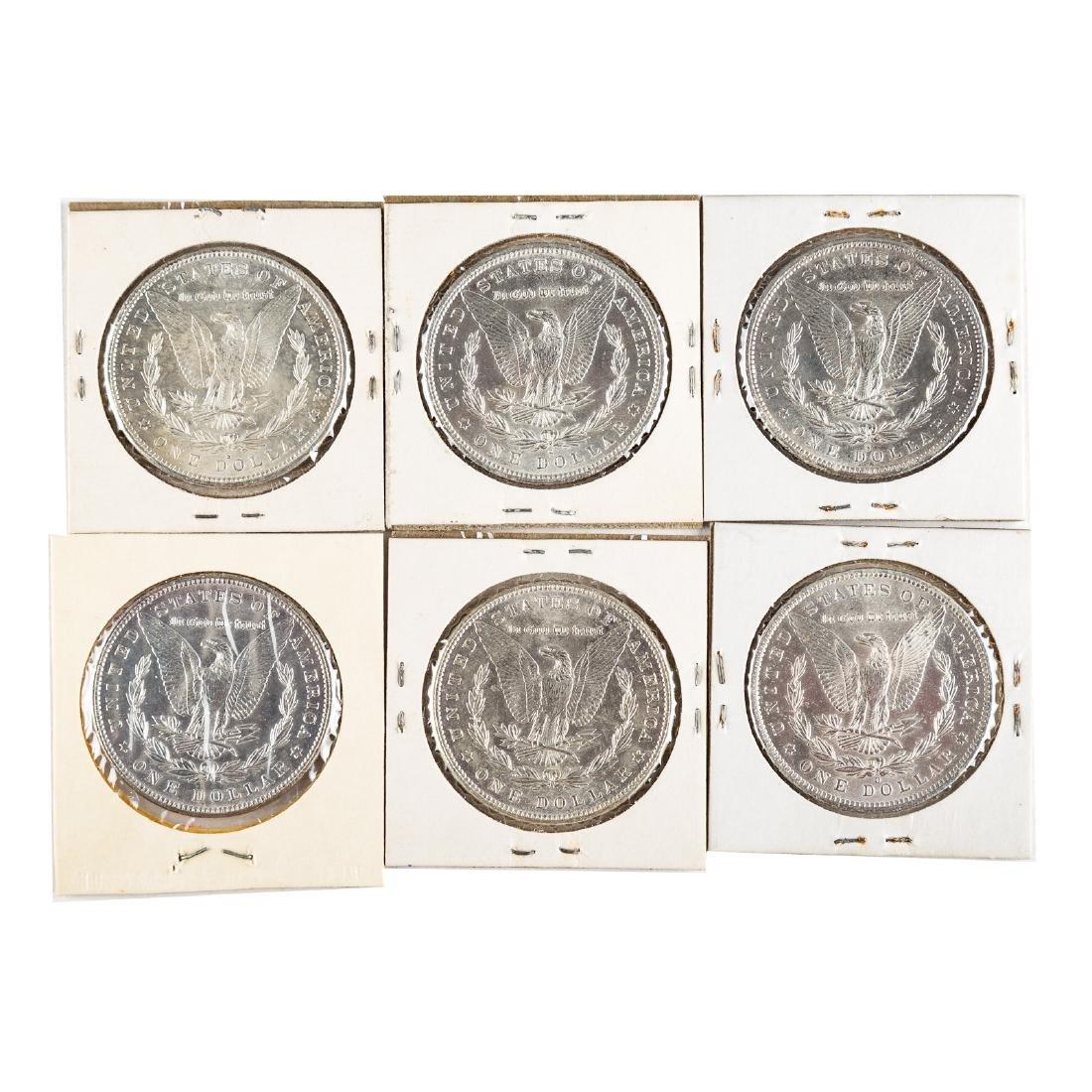 [US] Six Uncirculated Morgan Dollars - 2