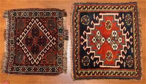 Two antique Persian Kashkai bag faces