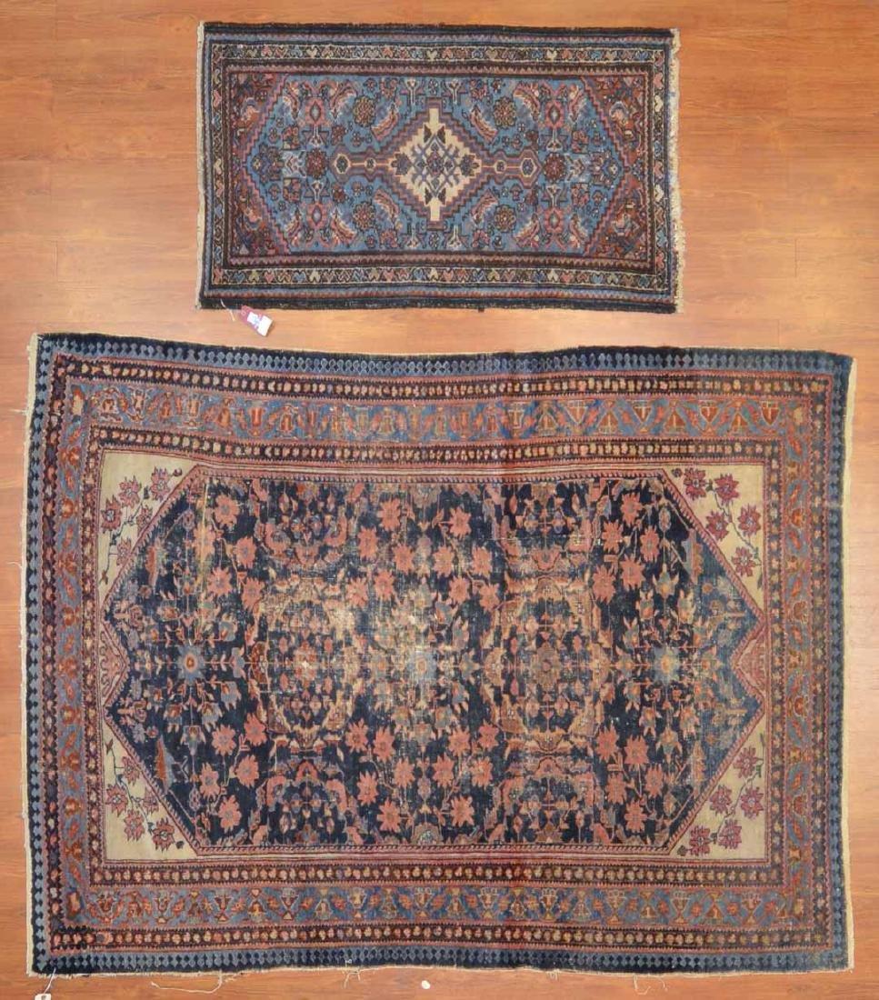 Two Persian Hamadan rugs, Iran, circa 1940