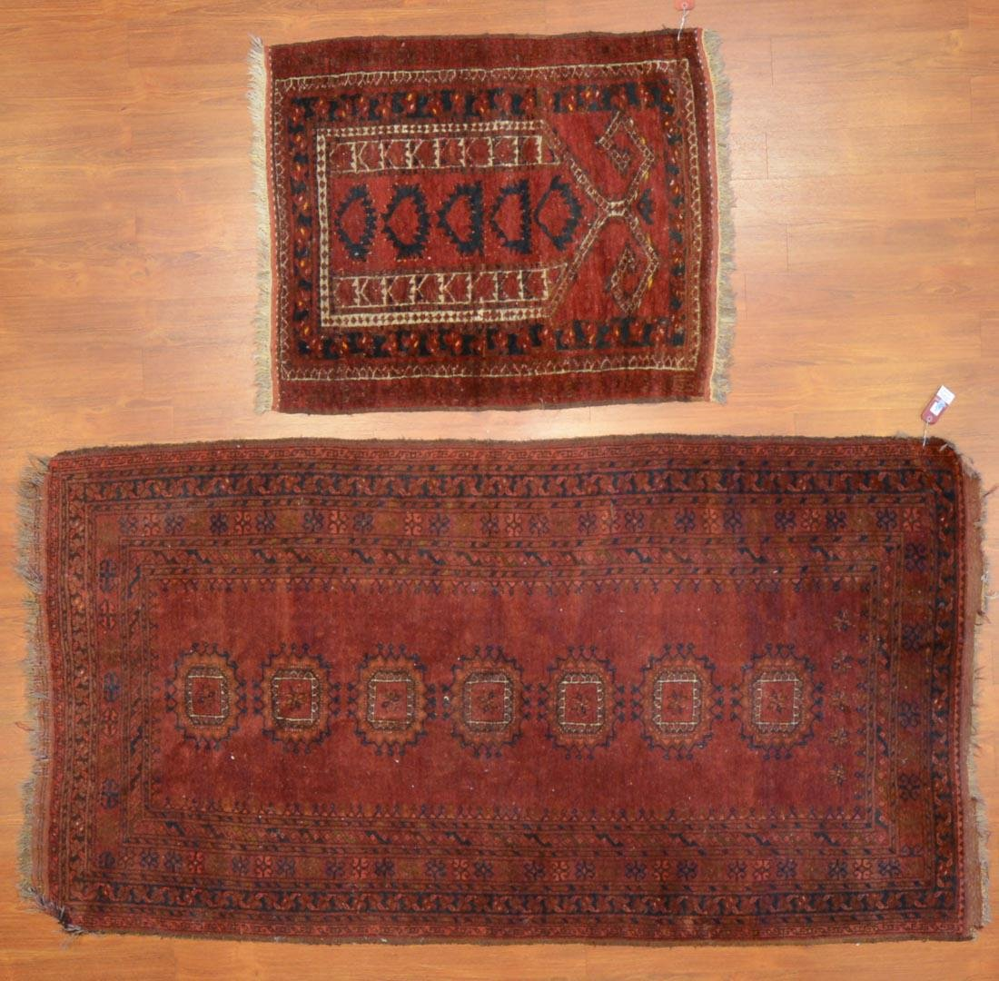 Two Afghani tribal rugs, Afghanistan, circa 1960