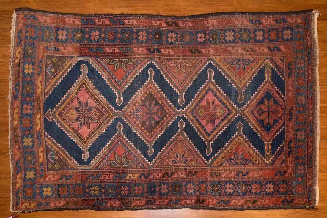 Antique Hamadan rug, approx. 3.10 x 6