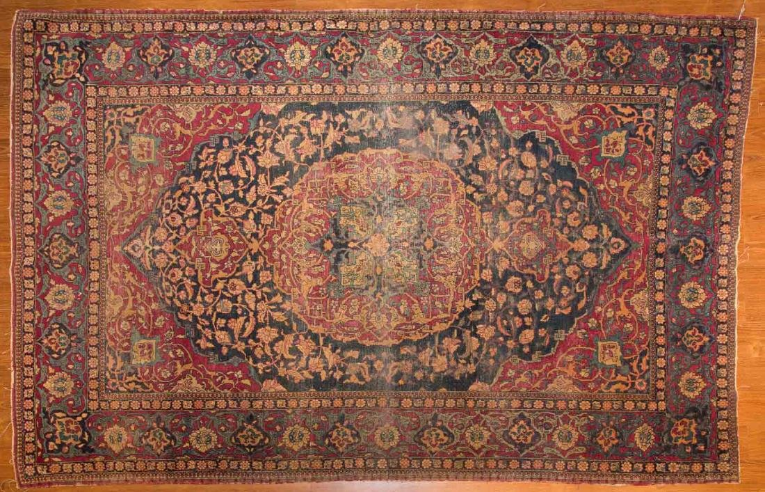 Antique Ispahan rug, approx. 4.7 x 7.2