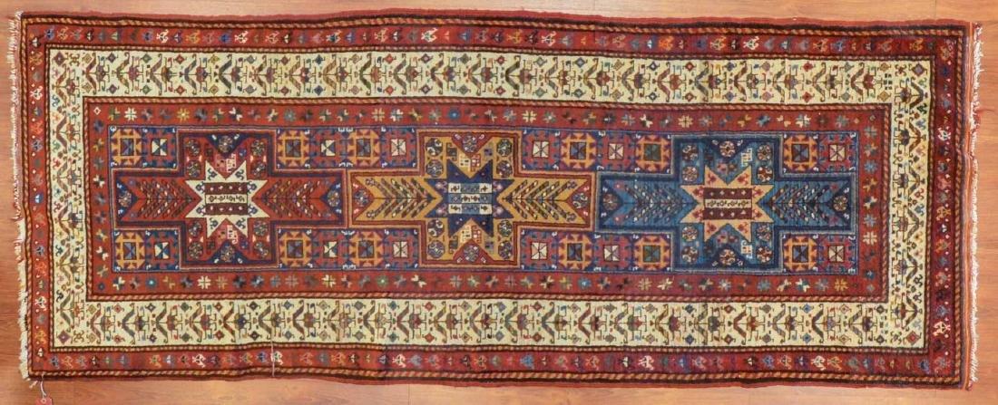 Antique Kazak rug, approx. 3.4 x 8.4