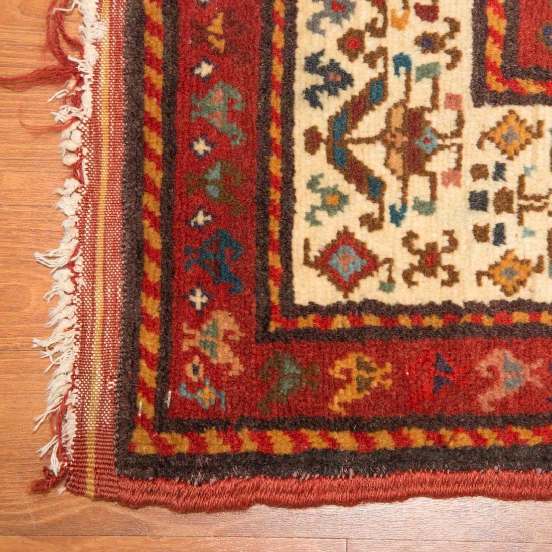 Antique Kazak rug, approx. 3.4 x 8.4 - 2