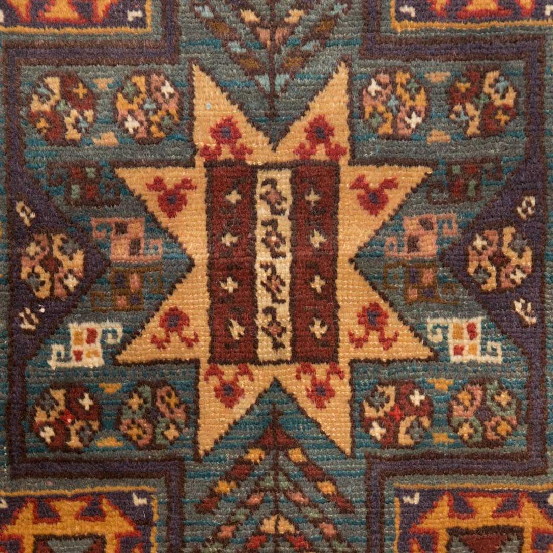 Antique Kazak rug, approx. 3.4 x 8.4 - 4