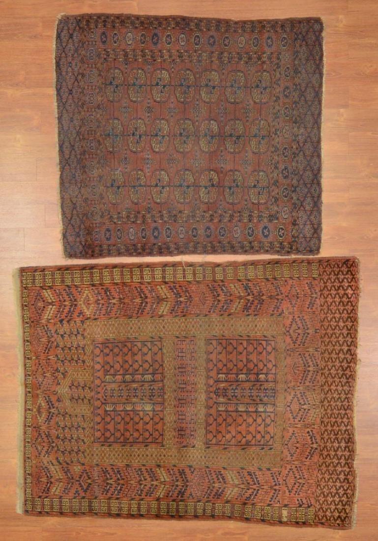 Two antique Turkemon rugs, Turkestan, circa 1920