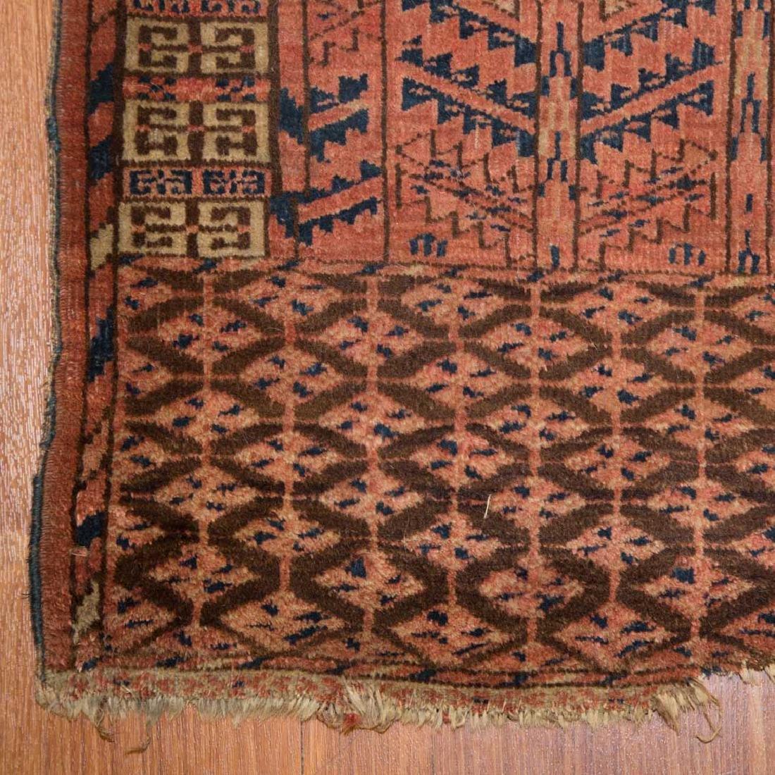 Two antique Turkemon rugs, Turkestan, circa 1920 - 4