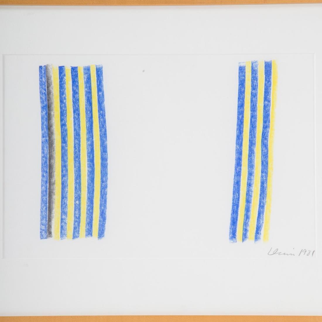 Gene Davis. Untitled Blue and Yellow, pastel - 2