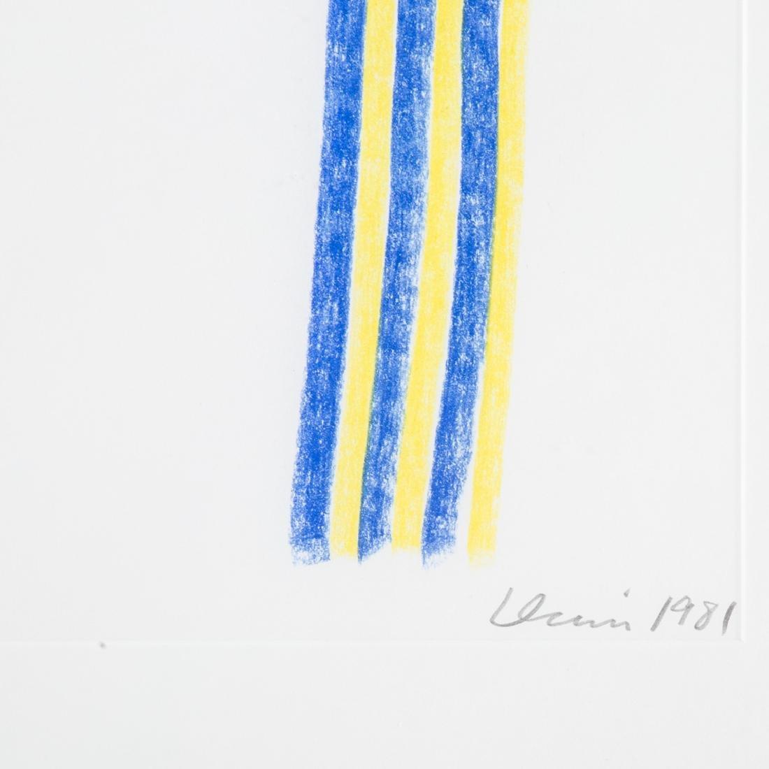 Gene Davis. Untitled Blue and Yellow, pastel - 3