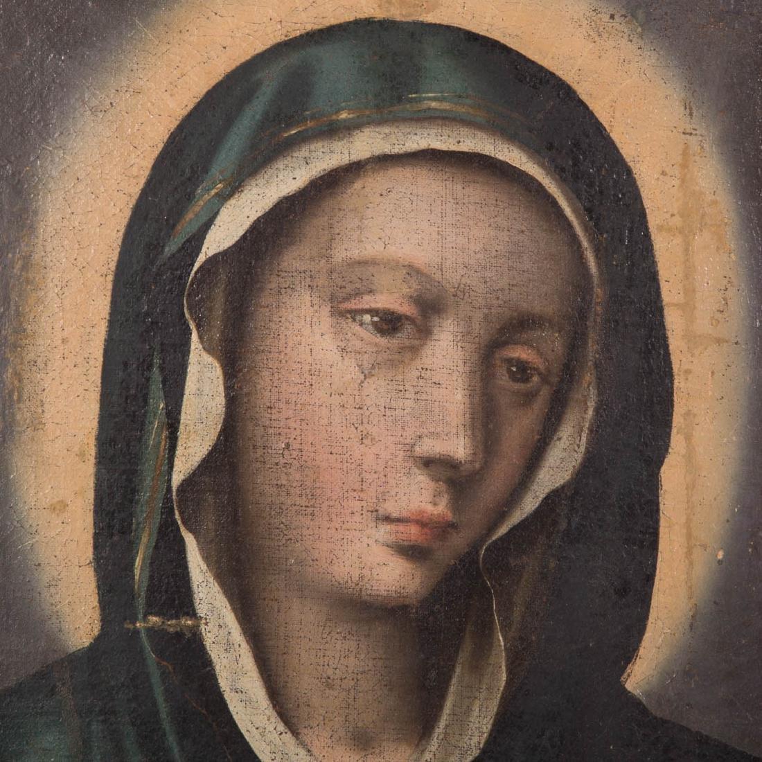 Italian School, 17th c. Head of the Madonna, oil - 2