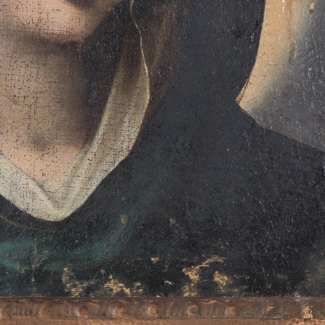 Italian School, 17th c. Head of the Madonna, oil - 3