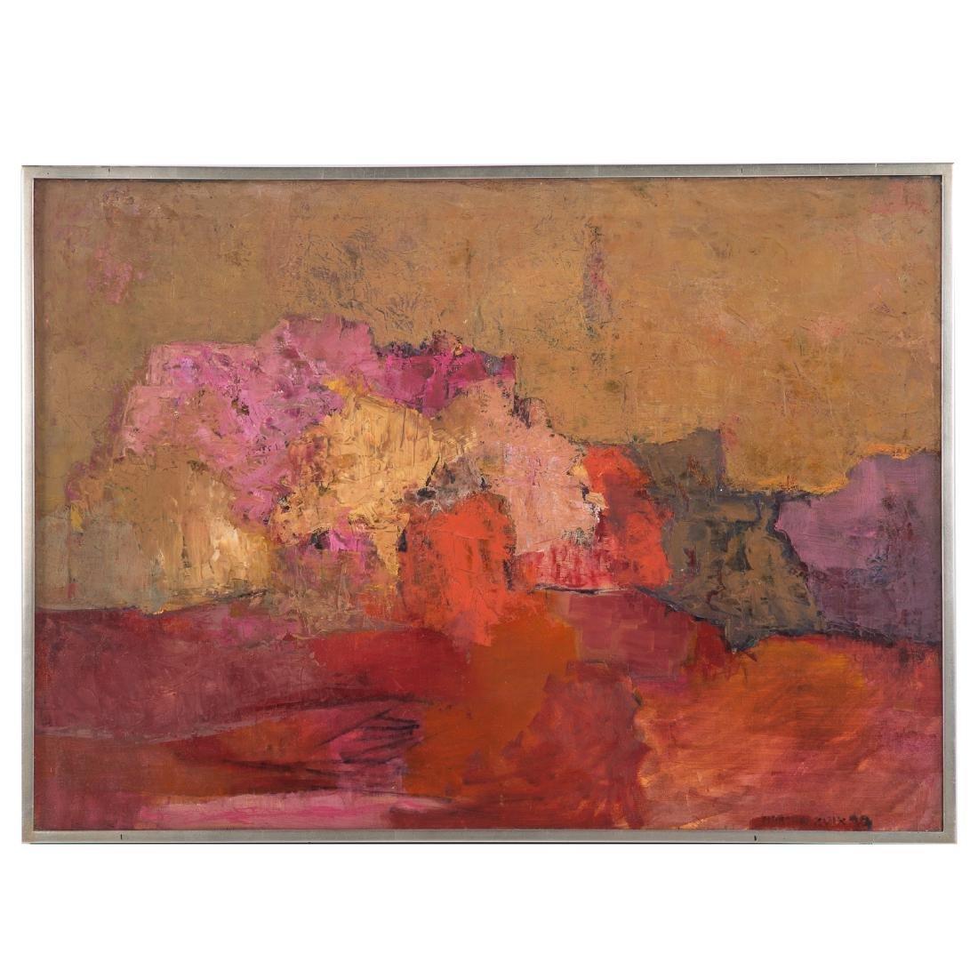 """Martha Zuick. """"El acantilado,"""" oil on canvas"""