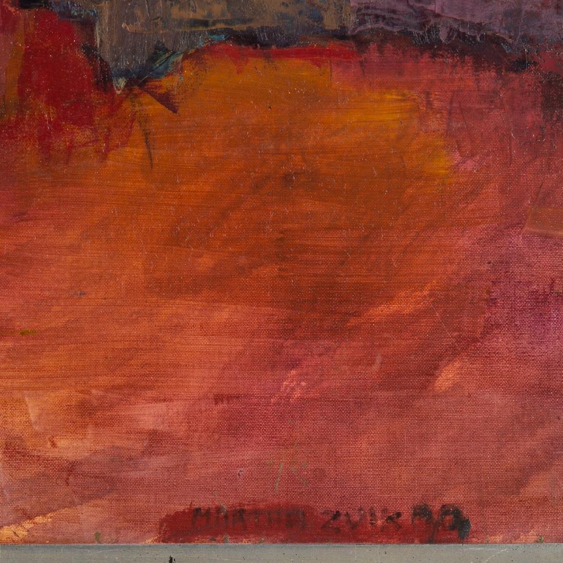 """Martha Zuick. """"El acantilado,"""" oil on canvas - 2"""