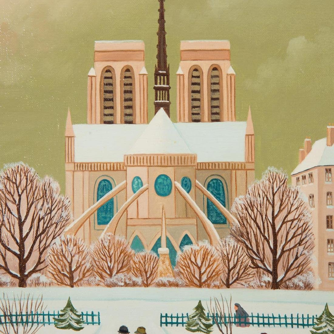 "Jean Axatard. ""Notre Dame,"" oil on canvas - 2"