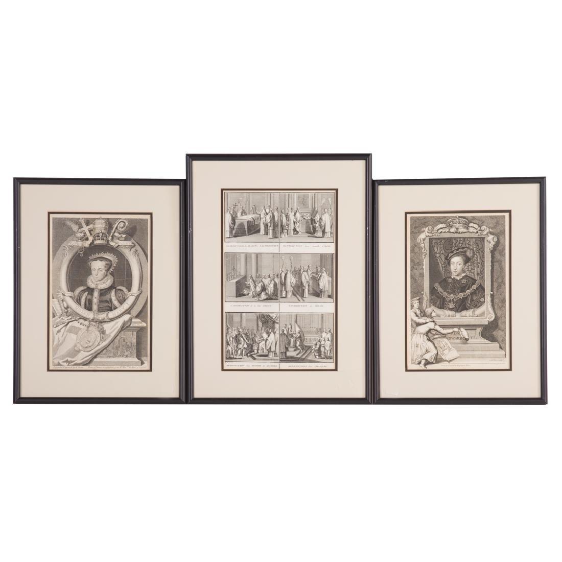 2 George Vertue Engravings & 3 French Engravings - 2