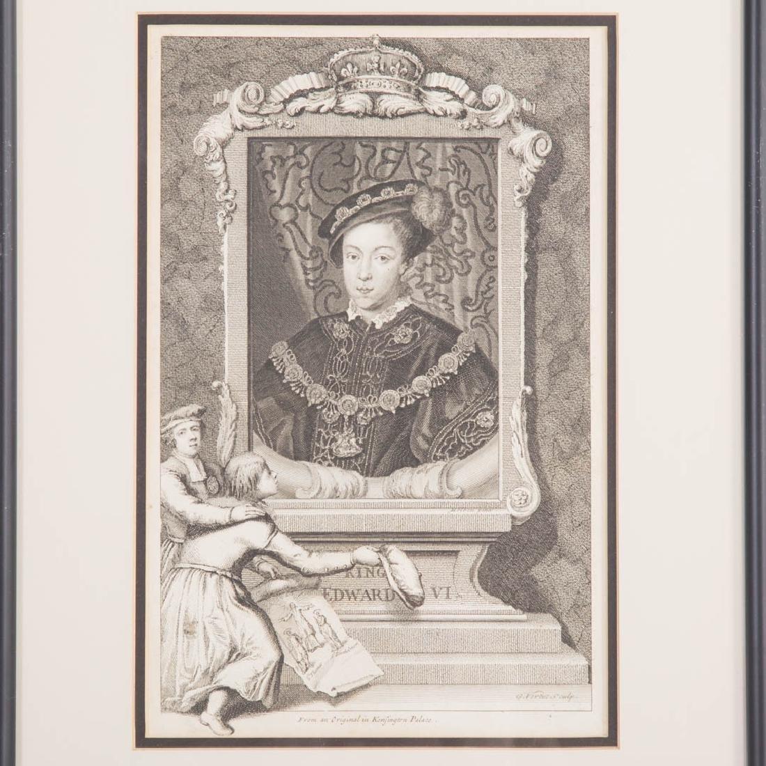 2 George Vertue Engravings & 3 French Engravings - 3