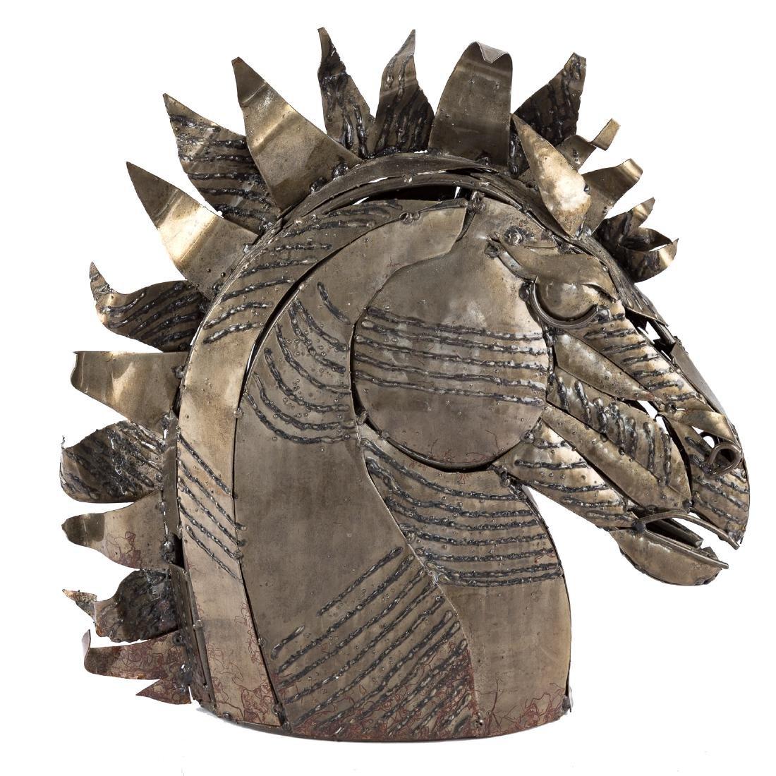 Contemporary School. Bust of Horse, sculpture