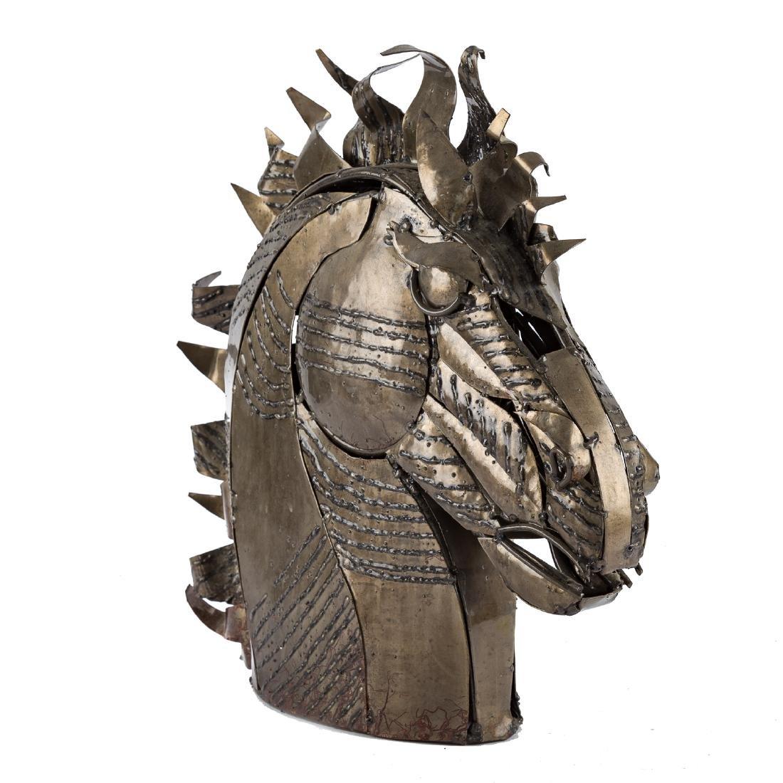 Contemporary School. Bust of Horse, sculpture - 2