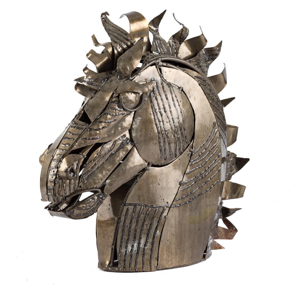 Contemporary School. Bust of Horse, sculpture - 3