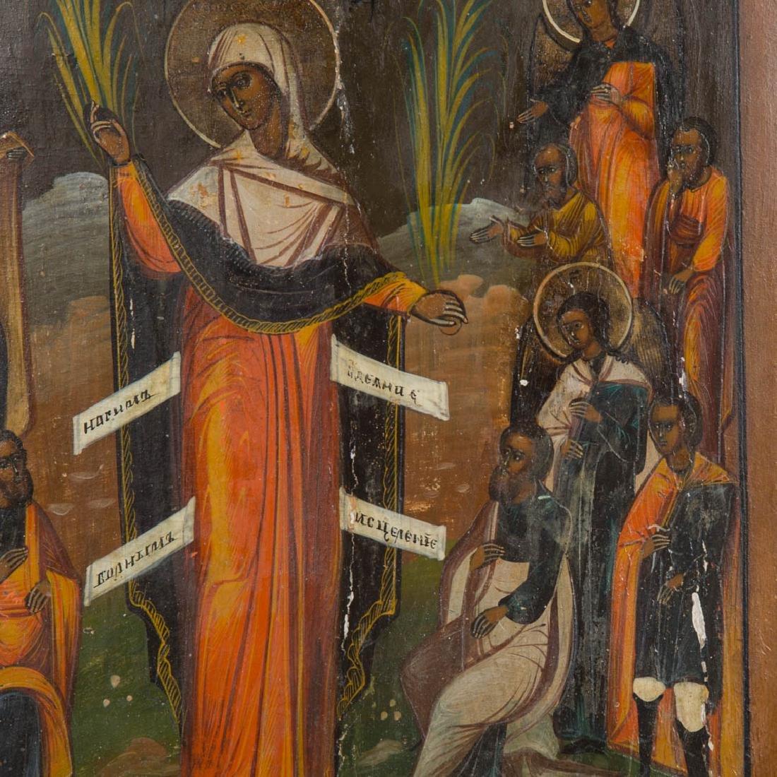 Russian Icon, 19th c. Female Saint, egg tempera - 2