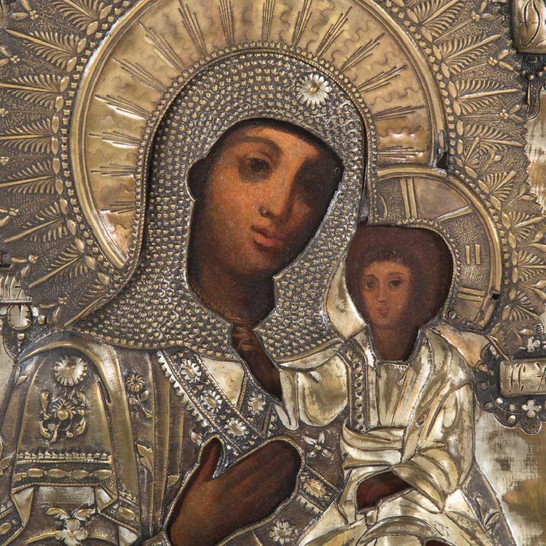 Russian Icon. Mother of God Smolensk, oil on panel - 2
